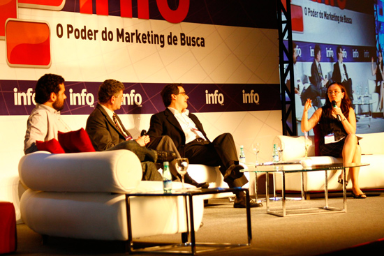 Wagner Martins, Caio Túlio e Abel Reis no painel sobre marketing de busca